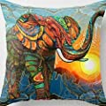 Cotton Velvet Colorful Elephant Design Pillow Case Cushion Cover Home Decoration - low-cost UK light shop.
