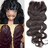Fennell 3 Part Closure Body Wave Virgin Brazilian Hair 130% Density Lace Natural