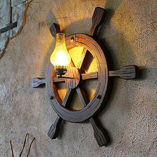 Das Altertum der Schöpfer Holz Anker Helm retro Lampe für den ridor Kaffee\'s Lounge Schlafzimmer Badezimmer stock Kinder Zimmer