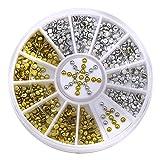 2mm Acryl Gold Silber Studs Nagelkunst Aufkleber Nagelsticker DIY Maniküre