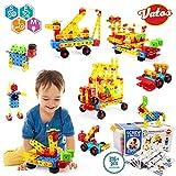 VATOS Konstruktionsspielzeug STEM Spielzeug Bauen 316 Stück Kreatives Baukasten Lernspielzeug Pädagogische Ingenieurblöcke Spielzeug für 3-10 Jährige Jungen & Mädchen Kinder