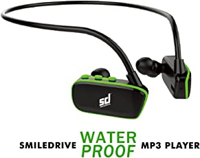 Smiledrive Waterproof MP3 Player with Inbuilt 8GB Memory - Back and Green