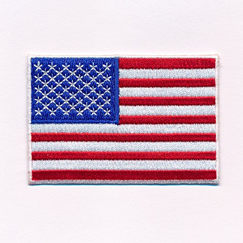 60 x 35 mm Amerika Flagge USA Flag Washington Patch Aufnäher Aufbügler 0640 B -