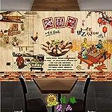 Tantoto 3D Wallpaper Klassische Traditionelle Gerichte Aus Duft Bügeleisen Eintopf Zweifellos Überfüllt Mit Endlosen Brennholz Zu Dem Großen Wandbild Tapeten Des Hotel Restaurant.