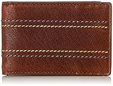 Fossil Herren Geldbörse– Reese RFID Bifold Geldklammer, Braun (Brown), 6.99x1.27x10.16 cm