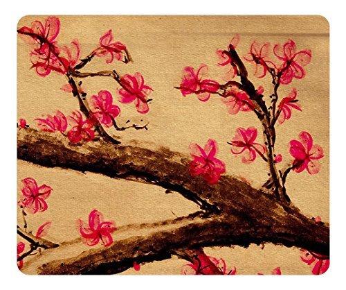 rechteckig brain114rutschfeste Spiel Mauspad Besondere Oberfläche strukturiert Mousepad Cherry Blossom Malerei Office Rutschfestes Mauspad strapazierfähiges Gaming Maus Pads (Malerei Cherry Blossom)