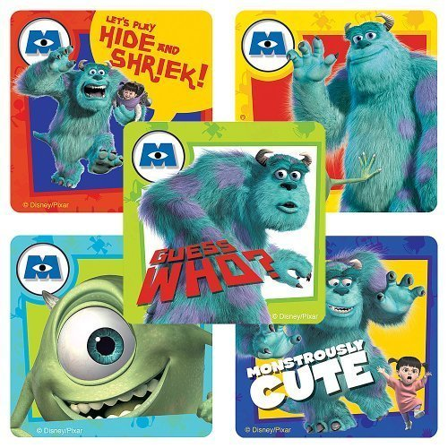 Disney Monsters, Inc. Stickers - Party Favors - 75 per Pack by SmileMakers