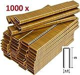 1000Agrafes de 6mm x 23mm pour agrafeuse électrique Parkside faites en Allemagne