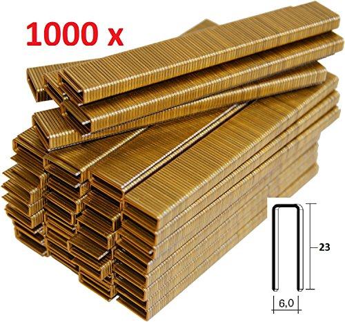 Lot de 1000agrafes métalliques de 6x 23mm, pour agrafeuse électrique Parkside - Fabriqué en Allemagne