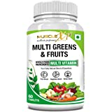 MuscleXP Multi Greens and Fruits Multivitamin with Fruit, Vegetable and Herbal Blend - 60 Tablets