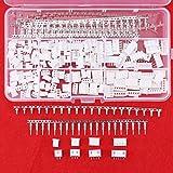 Hilitchi Lot de 480 boîtiers, conducteurs et connecteurs fil-à-carte Mâle/femelle à pas 2,54 mm JST-XHP 2 / 3 / 4 / 5