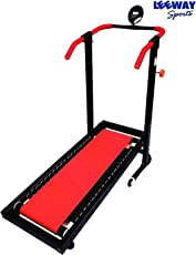 Leeway Manual Jogger Treadmill| Roller Jogging Machine For Home| Foldable Tread Mill| Multifunction Walking and Jogging Gym Running Exercise Machines| Deluxe Tradmill| Lifeline Cardio Excersice