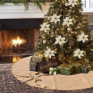 Amajoy Christmas Burlap Tree Falda 90 cm (35 Pulgadas) Decoración de árbol de Navidad Decoración de Navidad