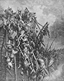 The Poster Corp Warfare: Siege. /Ncrusaders Capturing Antioch In 1098. Wood Engraving 19Th Century After Gustave Dor. Fine Art Print (60.96 x 91.44 cm)