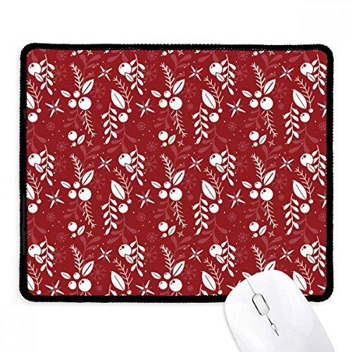 DIYthinker Rot Muster Weiß Dekoration Weihnachten Non-Slip Mousepad Spiel Büro Schwarz Titched Kante Geschenk