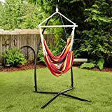 Ultranatura Hanging Chair with bars from the Bali series, max. user weight of up to 330 lbs (150 kg), Rainbow