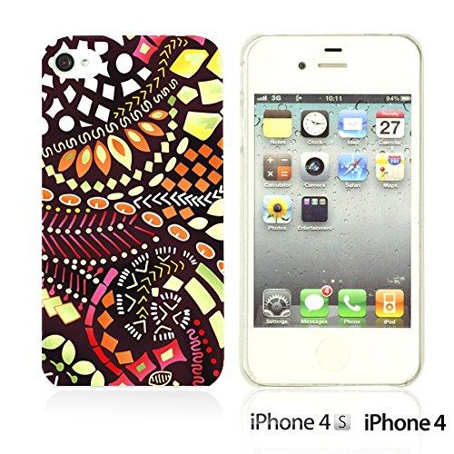 OBiDi - Geometrical Pattern Hardback Case / Housse pour Apple iPhone 4S / Apple iPhone 4 - Funny Tribal Print Beautiful Designed Pattern