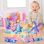 Fewao Kid Building Blocks DIY Toys 100PCS Children Creative Bricks Colour Blocks Educational Toys Plastic Puzzle...