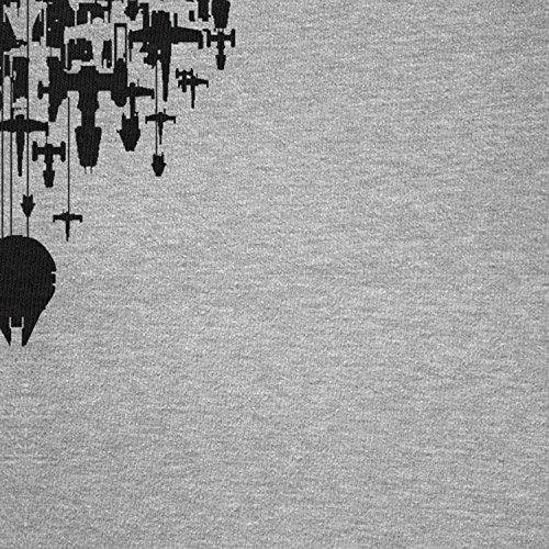 NERDO - Rebel Army - Damen T-Shirt Grau Meliert