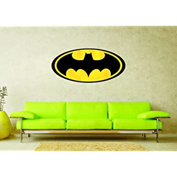 Buy Wall Sticker Batman Symbol Design Cover Area 24 X 11 Inch