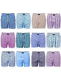 Lot de 6/12 - L&K Boxers pour homme Caleçons Différentes couleurs au choix 95 % coton 1403