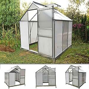 gwh02 alu gew chshaus mit stahlfundament 5 7m fr hbeet gartenhaus treibhaus garten. Black Bedroom Furniture Sets. Home Design Ideas