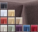 'Tessuto tovaglia–effetto lino–impermeabile, Eckig 130x 340cm–Colore Marrone Decorazione Della Home24'