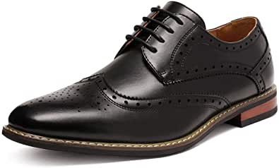 DREAM PAIRS Bruno Marc Prince Men's Classic Formal Oxford Wingtip Dress Shoes Brogues Derbys