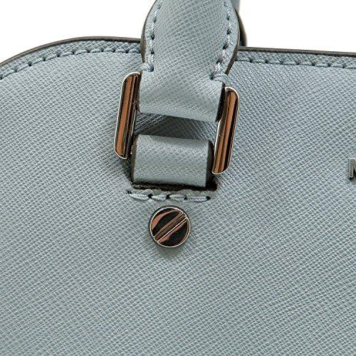 Michael Kors Savannah 30S6SS7S1L Damen Tasche Handtasche Henkeltasche Umhängetasche Abendtasche Schultertasche Dusty Blue