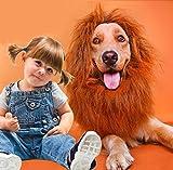 Eighteen-u Chien Lion Mane Perruque Costume, Funny Dog Festival de Noël Halloween séance photo Costume d'hiver chaud Écharpe Chien Lion Perruque avec queue