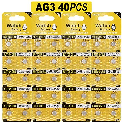 Paquete de pilas alcalinas LR41, AG3 / 40 unidades