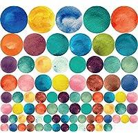 Stonges Colorido redondo círculo etiqueta de la pared bricolaje extraíble círculo moderno arte calcomanía de vinilo bebé habitación de los niños Nursery Kindgarten decoración del hogar