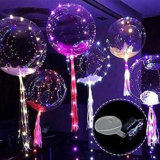 Yunt Bola de Burbujas Transparente Globos de Luz Resplandeciente Bola Decorativa con 3M Cuerdas de Luces para Fiestas Navideñas Boda Bar KTV