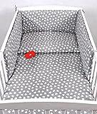BABYLUX Kinderbettwäsche 2 Tlg. 90 x 120cm Bettwäsche Bettset Babybettwäsche (95. Herzen Grau)