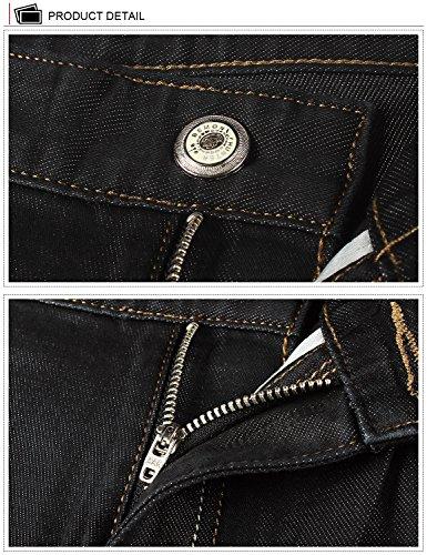 Demon & Hunter Herren Jeans Gerader Schnitt für 8003x 29, 8003/Nostalgie Blue, Gr. 29W/Regular DH8024 x Schwarz