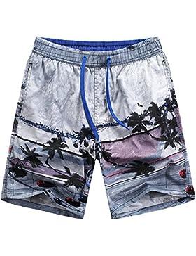 WDDGPZ Pantalones Cortos De Playa/Moda Playa Hombres Verano Shorts Shorts Junta Junta Seca Rápida Ocio Cortos...