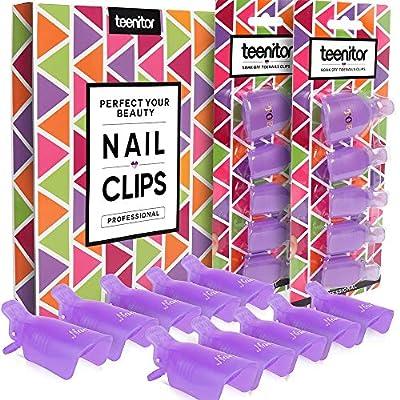 Teenitor Toenail and Finger Nail Acrylic Nail Art Soak Off Caps from Teenitor