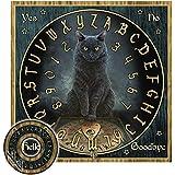 Lisa Parker His Masters Voice Black Cat Mystical Talking Spirit Ouija Board w/ Planchette