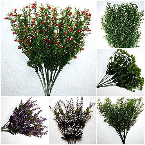tatjana-land-deko 12 x Exotisch Grasstiel Graszweig Gras Zweig Kunstblume Seidenblume Asparagus