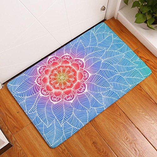 Badematte Mandala Teppich Blume Gedruckt Bodenmatte Saugfähigen Badezimmer Matte Wc Küche Teppiche Dekoration , 5 , - Küche-teppich-blumen