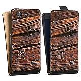 DeinDesign Sony Xperia Z3 Compact Tasche Hülle Flip Case Verwitterte Holzplanken Holz Look Holzboden