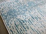 Tappeto Cefalù 120X170 Azzurro Grigio Beige Celeste azzurro senza frange lucido carpet silk effect Design Moderno Poliester divani (gali carpet)