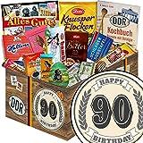 Geschenk zum 90. | Schokolade Korb | Geschenkkorb | Schokoladen Paket | Geschenke 90. Geburtstag