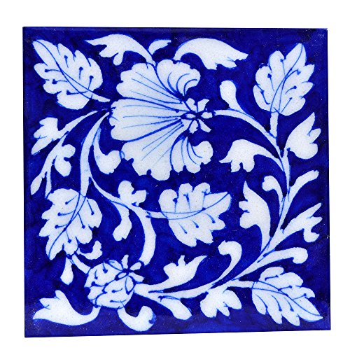 The Himalaya Craft Ceramic Wall Tiles (Multicolour, 10X10Cm)