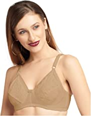DAISY DEE Special MODD CHARISHMA Skin C   Women Full Coverage Bra   Wirefree   Regular Straps   Cotton   Pattern Embroidered   Seamed   Non Padded   Full Coverage