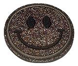 Bügel Iron on Smiley Aufnäher Patches Glitzer für Jacken Cap