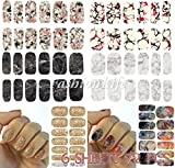 Adesivi per Nail Art per Decalcomania ad Acqua 6 sheets 72 pcs Nail Sticker set #266 Tatuaggi adesivi per Unghie - FashionLife
