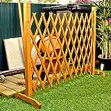 """Espansione Fence Giardino schermo Trellis Style espande a 6'4 """"autoportante in legno"""