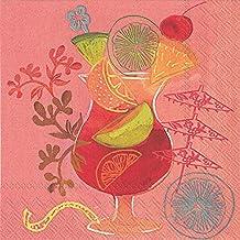 Idéal à domicile Gamme 3couches de 20serviettes en papier pour cocktail de fruits, Rhum Punch