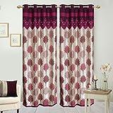 Hargunz Eyelet Jute door curtains-Lavend...